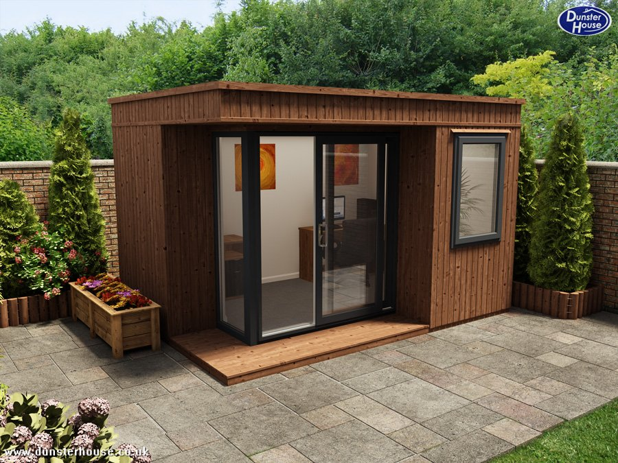 Dunster house ltd distribution wooden houses garden for Garden house office