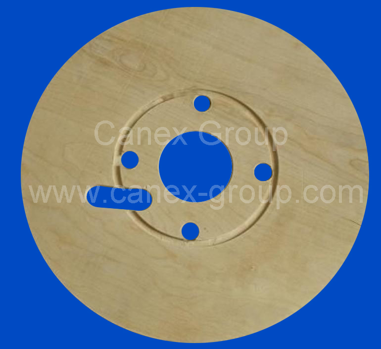 Plywood cable reel flange drums