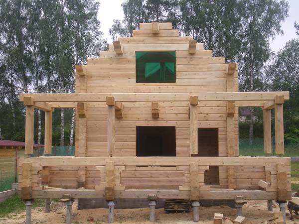 Как построить дом из профилированного бруса своими руками