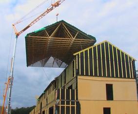 Case pe structura din lemn, bbc si ecologice.