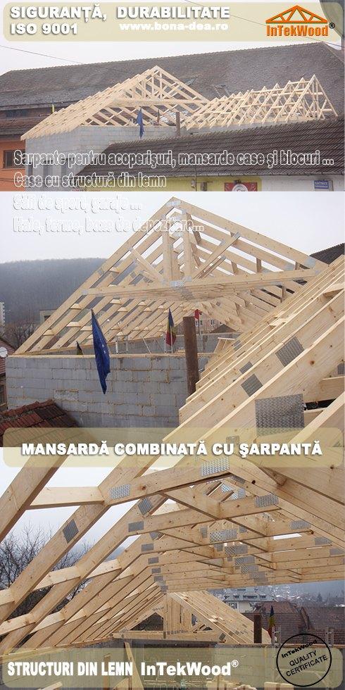 Vindem structuri din lemn pentru case, mansarde, hale