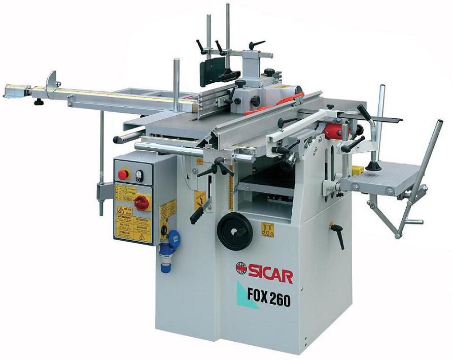 Masina universala de tamplarie cu 5 operatii FOX 260 - SICAR