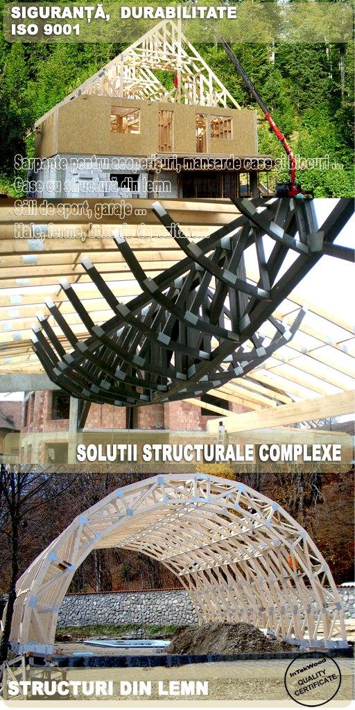 Structuri din lemn pentru constructii civile si industriale