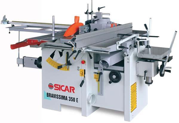 Masina universala de tamplarie cu 5 operatii BRAVISSIMA 350E - SICAR