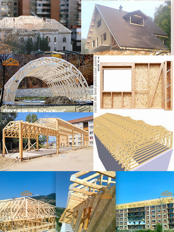 Mansarde, sarpante din lemn pentru case si blocuri
