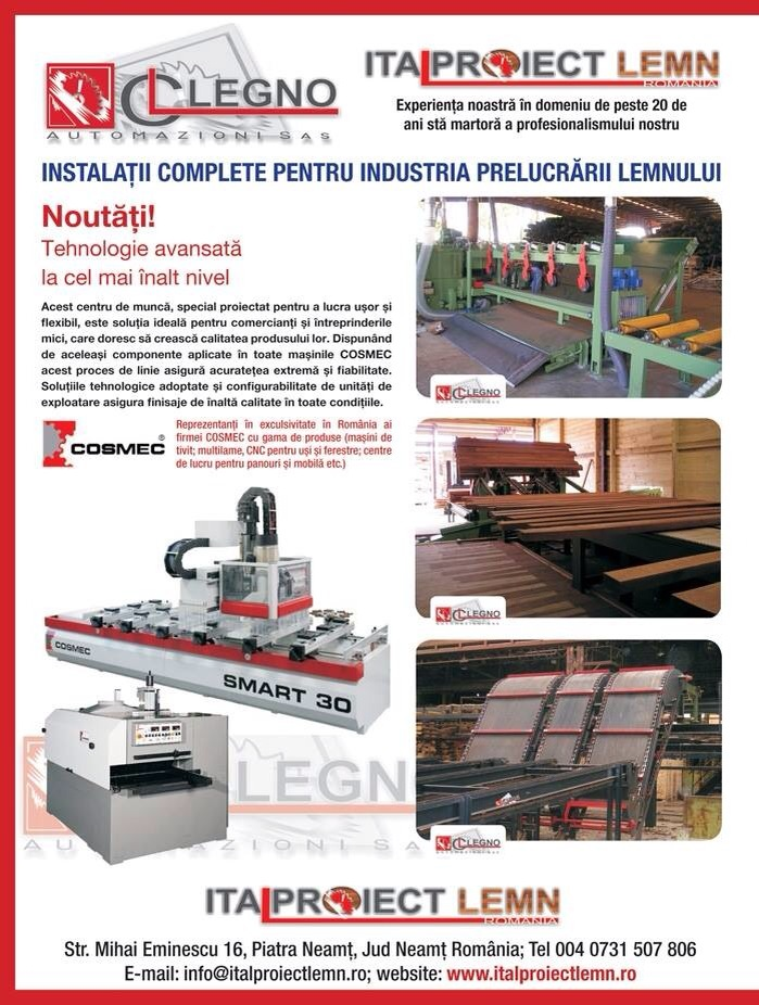 Complete sawmills. Special machines for the wood industry.