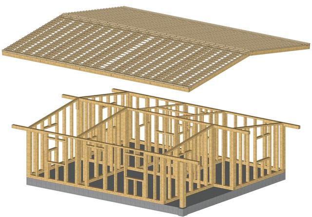 Producem case prefabricate structura lemn si lemn lamelar