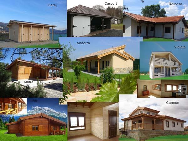 Case cu structura din lemn