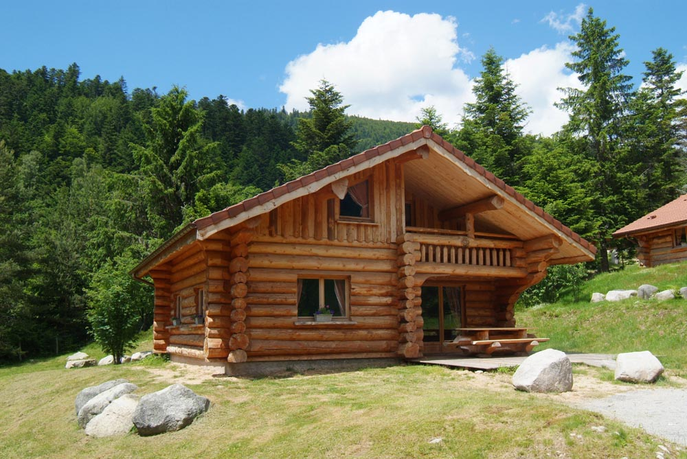 Vanzare cabana lemn rotund necalibrat for Case de lemn rotund