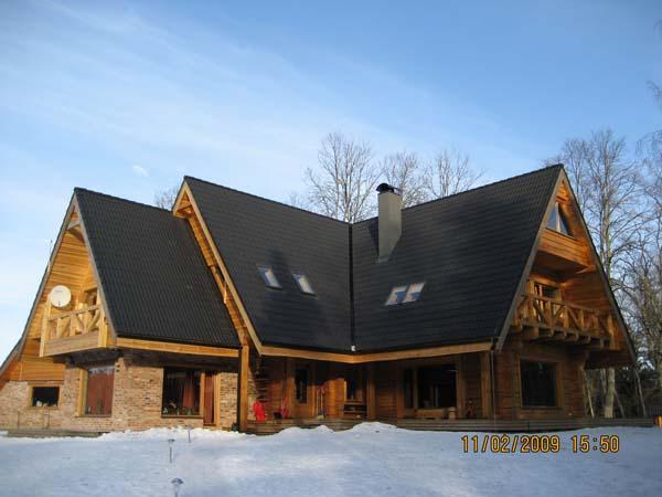 Casa di legno for Case in legno lettonia