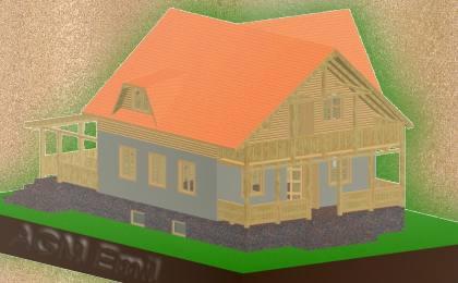 Constructii case pe schelet din lemn