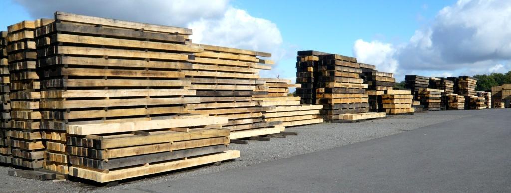 roble bigas traviesas madera aserrada