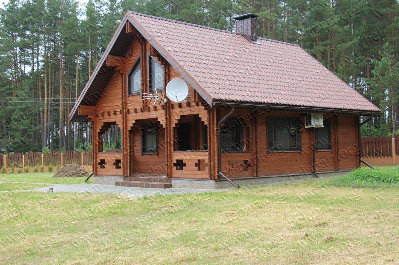 Costruzione di case di legno e bagni di travi profilate a for Costruzione di case americane