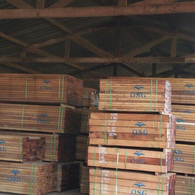 Hardwood lumber supplier from african gabon