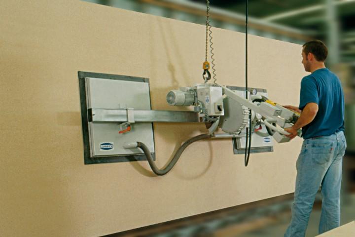 Dispozitive de ridicare cu vid pentru lemn, PAL, MDF, policarbonat, ferestre, mobila ambalata